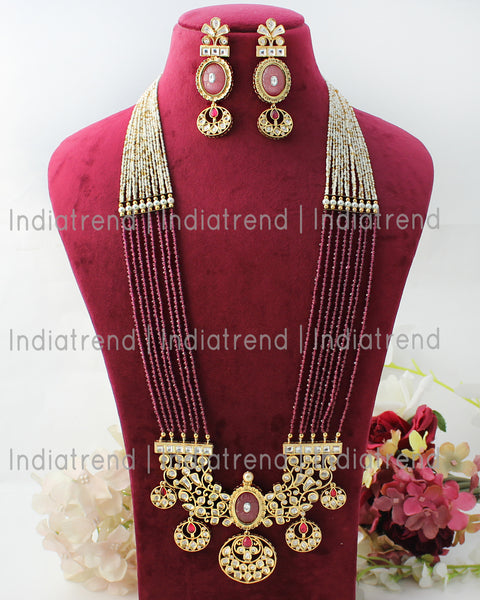 Mewar Long Necklace Set