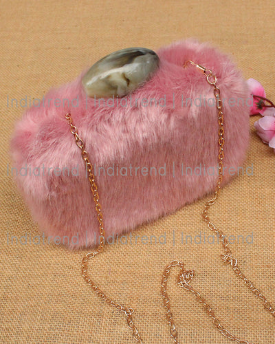 Rehanna Fur Clutch Box
