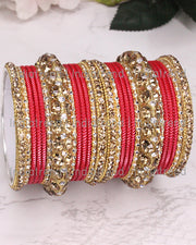 Poorva Bangle Set (Golden)