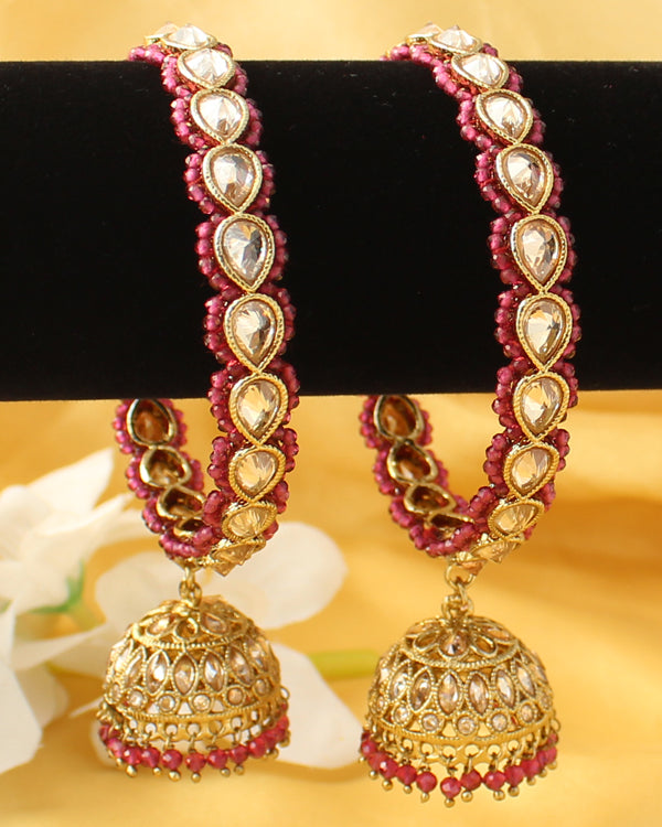 Mehar Jhumki Bangle Set (Golden)