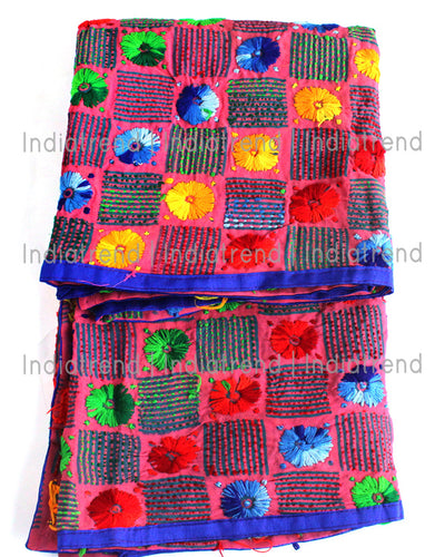A Beautiful Mauve Phulkari Dupatta