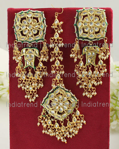 Shibani Earrings & Tikka