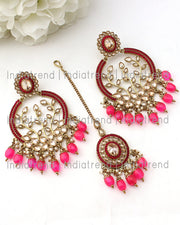 Inayat Earrings & Tikka (Golden)