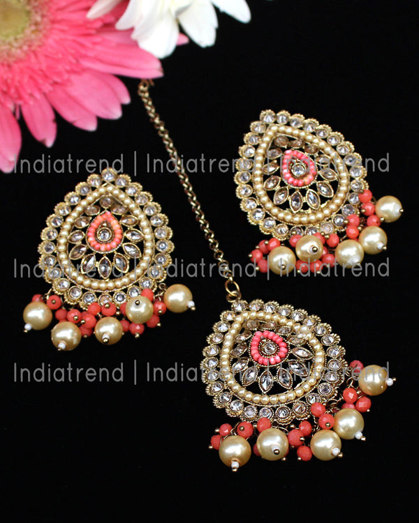 Alia Stud Earrings & Tikka