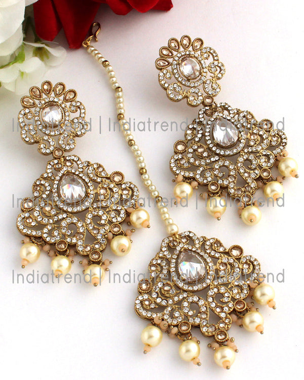 Mayra Earrings & Tikka