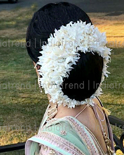 Preorder Jasmin Flowers Artificial Hair Bun Bridal Gajra