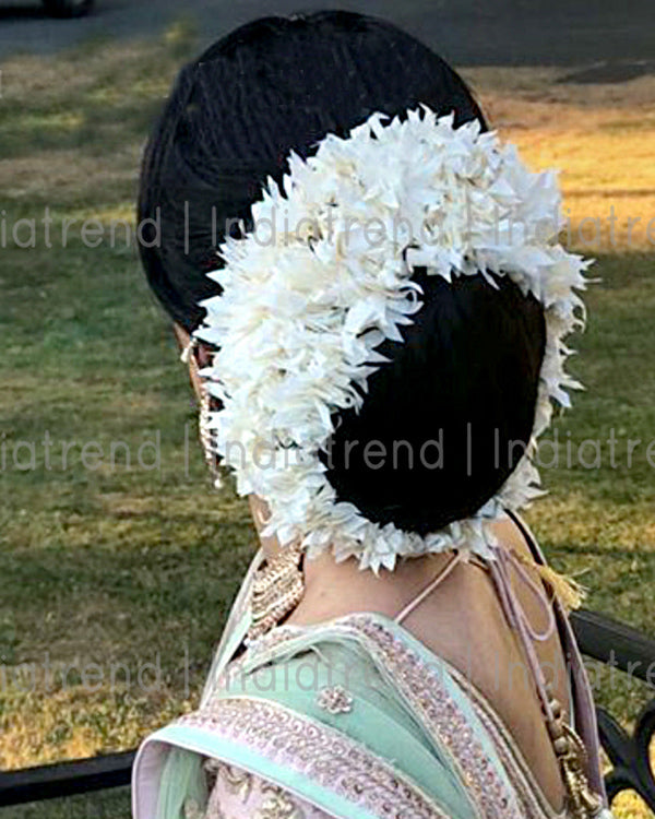 Jasmin Flowers Artificial Hair Bun Bridal Gajra