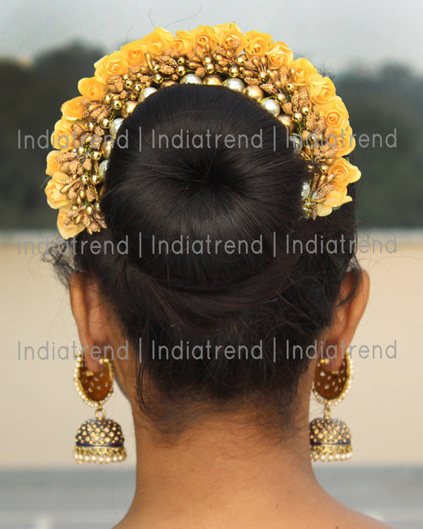 Karuna Artificial Flowers Hair Bun Bridal Gajra