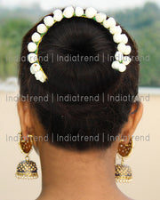 Shifa Artificial Flowers Hair Bun Bridal Gajra