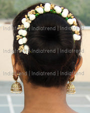 Zeenat Artificial Flowers Hair Bun Bridal Gajra