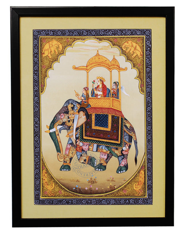 Handmade Queen of Mughal Painting