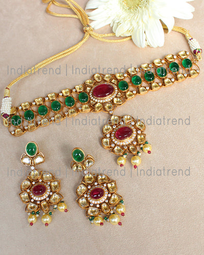 Kumud Choker Necklace Set