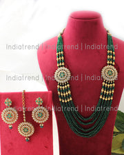 Mihika Layered Necklace Set (Golden)