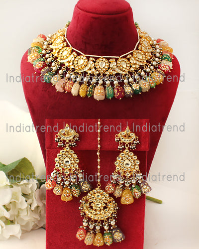 Alwar Bib Necklace Set