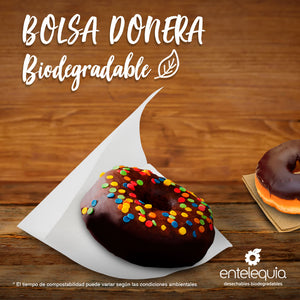 Bolsa Donera Blanca BD - Desechable Biodegradable Entelequia 1,000 pzas