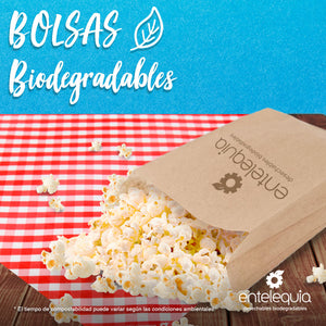 Bolsa de Kraft Galletera BG - Desechable Biodegradable Entelequia 50/1,000 pzas