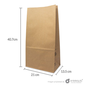 Bolsa de Kraft #20 - Desechables Biodegradables Entelequia® 50/500 pzas