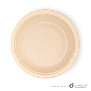 Tapa Tazón Paja de Trigo 24oz y 32oz - Desechable Biodegradable Entelequia