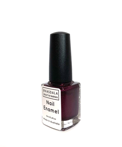 7 Free -12ml Nail Polish - Black Berry - Deep Black with Berry Shimmer
