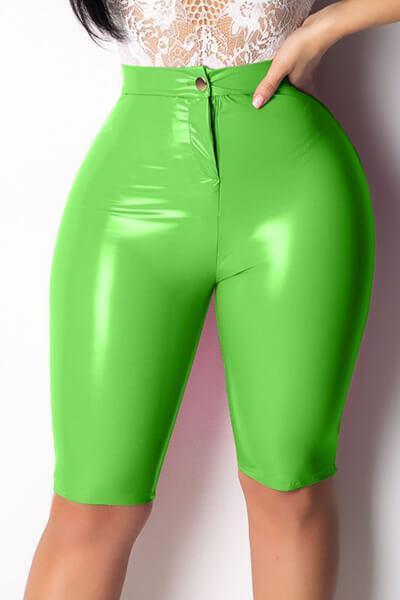 Fashion High Elastic PU Leather Pants