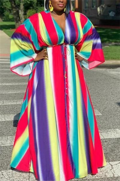 Plus Size Tie Dye Dress
