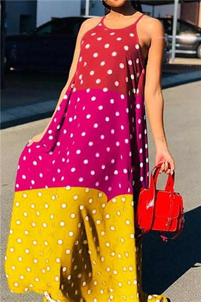 Dots Printed patchwork Dress