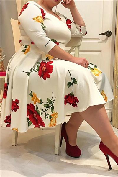 Loose High Waist Midi Skirt