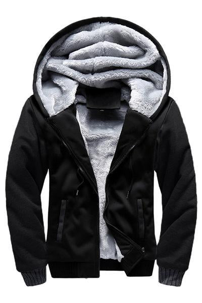Hooded Sports Plus Fleece Mens Jacket