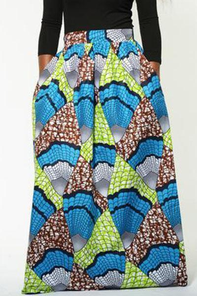 Casual Loose Printed Skirt
