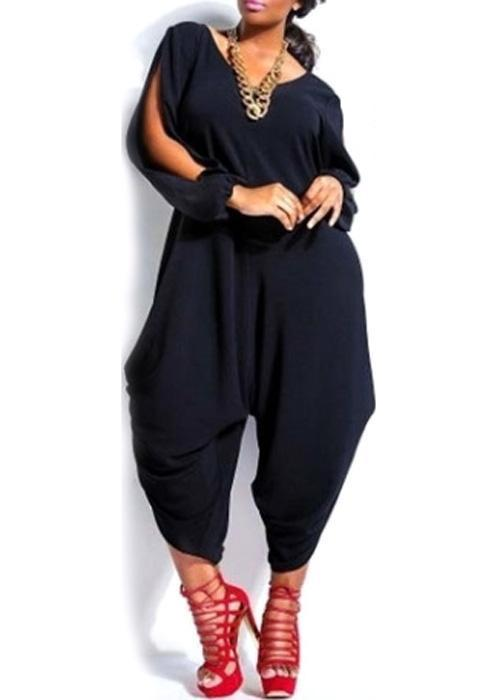 Big Size Casual Loose Sport Jumpsuit