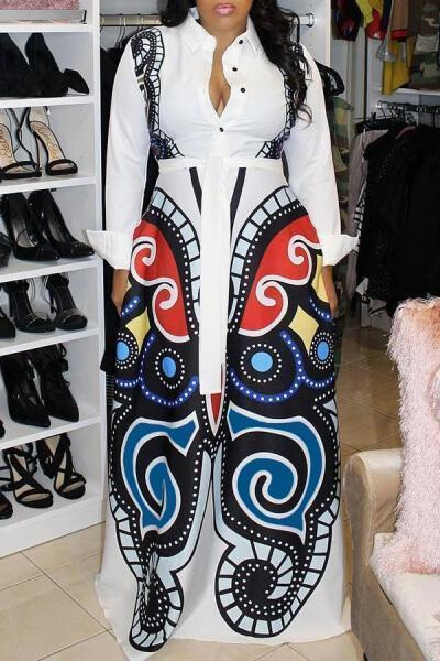Casual-Printed-Loose-Blending-Floor-Length-Dress