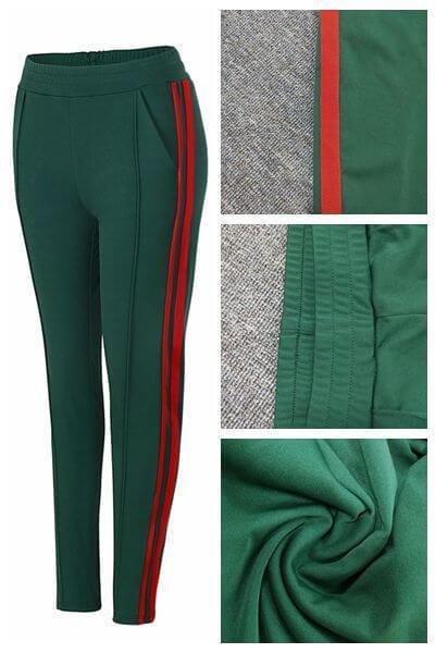 Casual Side Stripe Sporty Pencil Pants