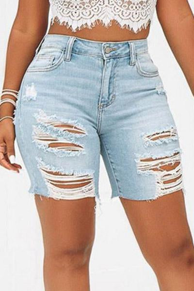 Casual Tassel Hole Jeans