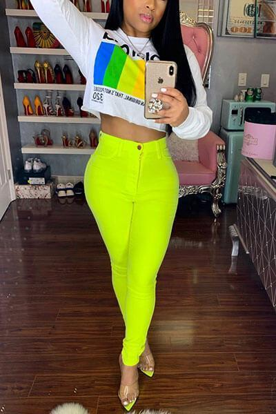 Fashion High Waist Skinny Pants