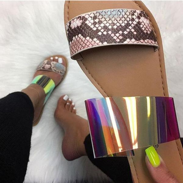 Fashion Pattern Flat Sandals Slippers
