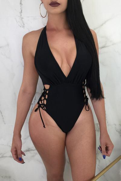 Sexy Deep V One-Piece Swimsuit