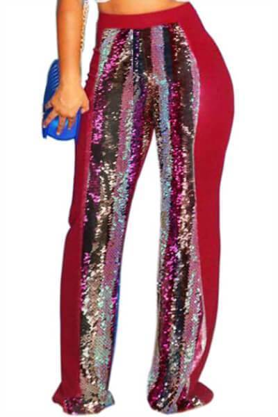 High-Waist-Sequins-Pants