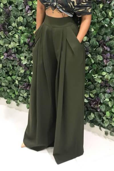 Horn Wide Leg Casual Pants
