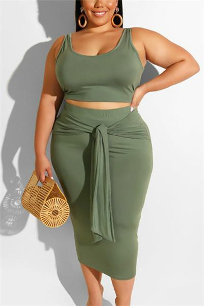 Plus Size Sexy Hip Strap Dress