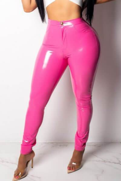 Slim PU Leather Pants