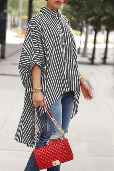 Striped Printed Casual Shirt