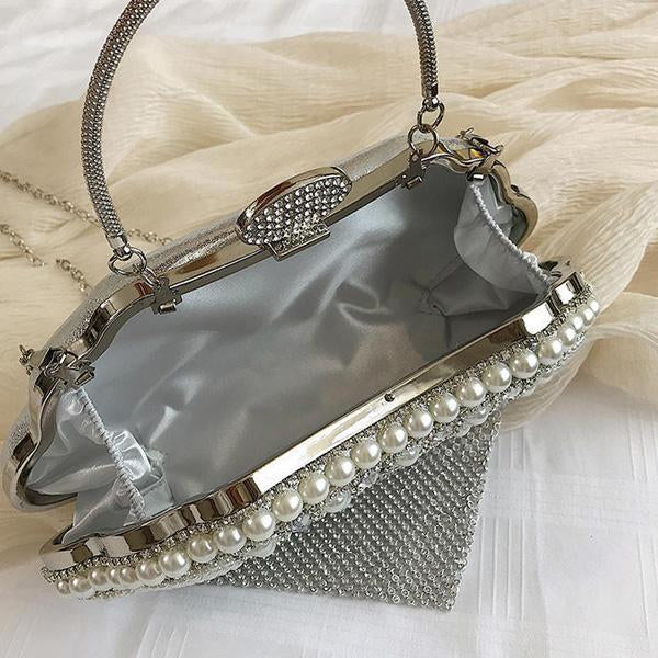Fashion Pearl One Shoulder Cross Chain Bag