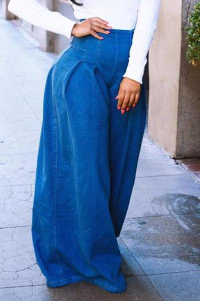Loose Wide Leg Denim Pants
