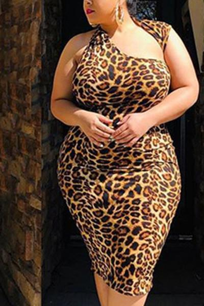 Leopard Sexy Sheath Dress