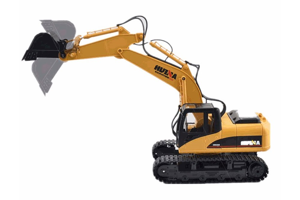 HuiNa 1550 RC Excavator 2.4G 15CH 1/12 RC Construction Vehicle
