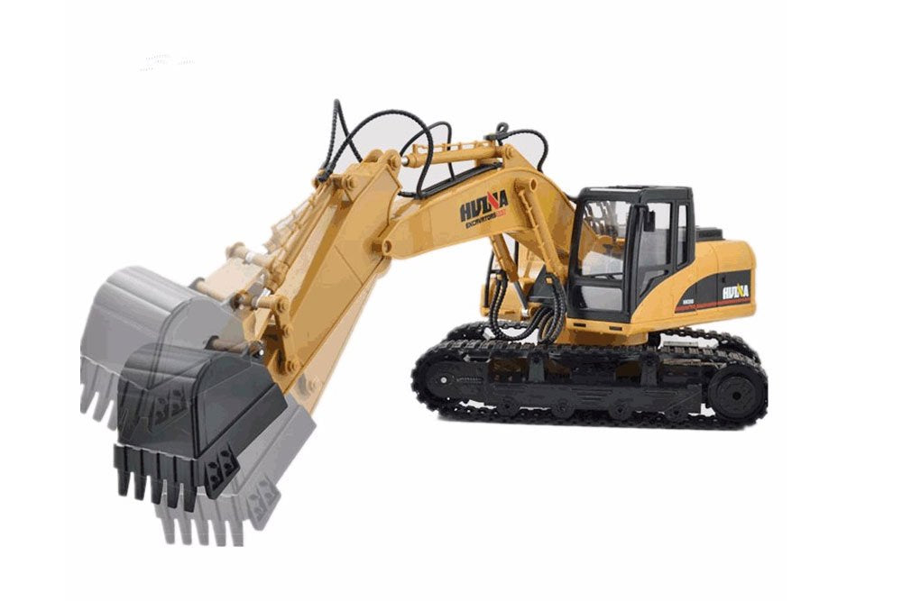 HuiNa 1550 RC Excavator 2.4G 15CH 1/12 RC Construction Vehicle Metal RC Equipment