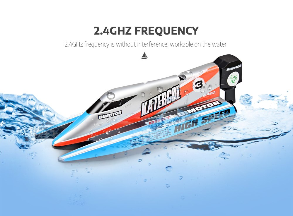 Mini RC Boat 2.4G 4CH F1 Racing Speed Boat