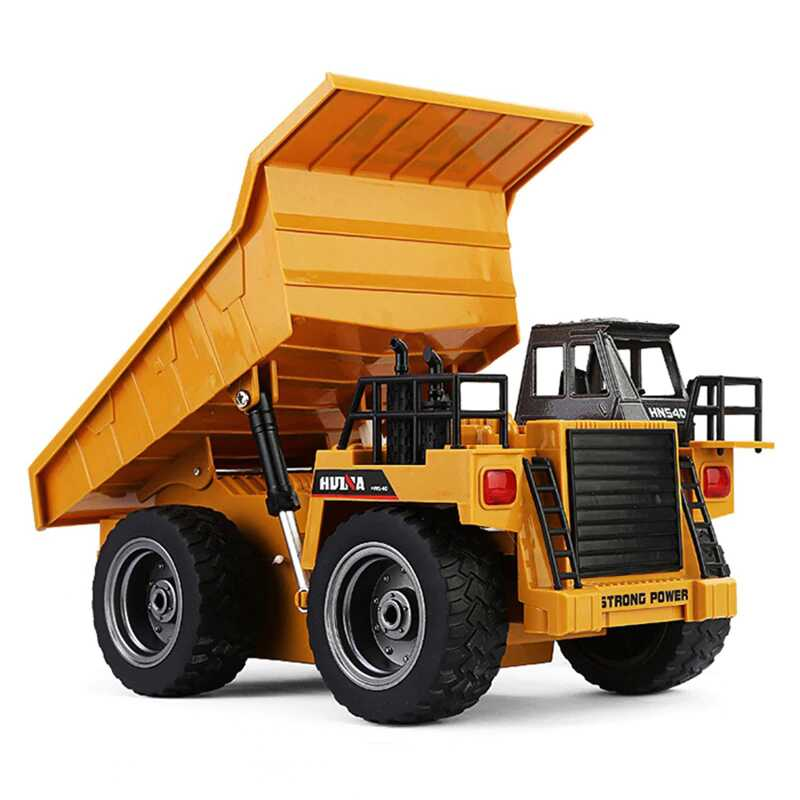 HuiNa 1540 Dump Truck 2.4G 6CH 1/18 Metal RC Construction Vehicle