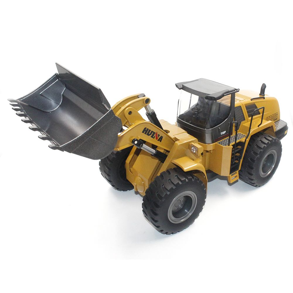 HuiNa 583 Wheel Loader RC Bulldozer Metal 2.4G 10CH 1:14 RC Front Loader Construction Vehicle