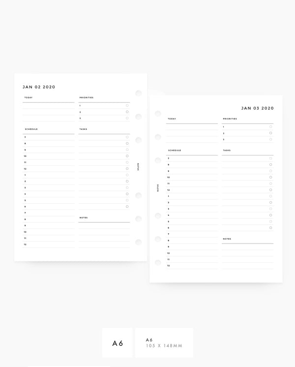 MN004D - 2020 Daily Planner - PDF